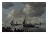 Le départ pour la pêche Giclée-Druck von Jan Van Goyen
