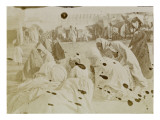 Travel in Algeria: Veiled Women Assembled in Kairouan Giclee Print by Henri Jacques Edouard Evenepoel