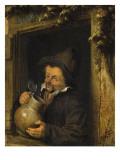 Le Buveur à la fenêtre Giclée-Druck von Adrien Van Ostade