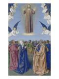 Le Livre d'Heures d'Etienne Chevalier : Fragments des Evangiles, L'Ascension Gicleetryck av Jean Fouquet