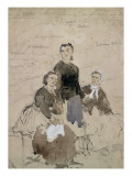 Trois pétroleuses condamnées à mort; Joséphine Marchais, Léontine Suetens, Elisabeth Retife Giclée-Druck von Daniel Urrabieta Vierge