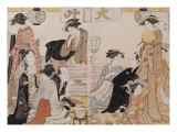 Le quartier de Nakasu Giclee Print by Torii Kiyonaga