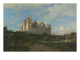 Le Ch&#226;teau de Pierrefonds Reproduction proc&#233;d&#233; gicl&#233;e par Emmanuel Lansyer