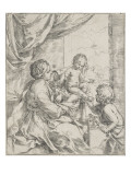 The Virgin, the Infant Jesus and Saint Jean-Baptiste Giclee Print by Guido Reni