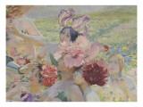 Le chevalier aux fleurs (tiré de Wagner, Parsifal) Giclee Print by Georges Antoine Rochegrosse