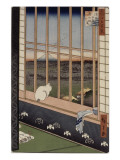 Le sanctuaire de Yushima Tenjin depuis le sommet de la colline Giclee Print by Ando Hiroshige