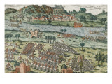The Passage of the Rhone in Dauphine (March 28, 1570) Giclee Print by Frans Hogenberg