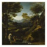 La vision de saint Eustache Giclée-Druck von Giovanni Viola