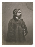 Th&#233;ophile Gautier, &#233;crivain fran&#231;ais (1811-1872) Reproduction proc&#233;d&#233; gicl&#233;e par Gaspard F&#233;lix Tournachon