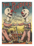 The Pinder's : clowns musiciens Reproduction procédé giclée
