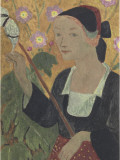 La fileuse aux annes Reproduction procédé giclée par Paul Serusier