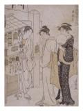 Le mois de juin, mois où l'on attend le vent Giclee Print by Torii Kiyonaga
