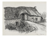 The House of Peter Tournadre in Rochefort-Montagne Giclee Print