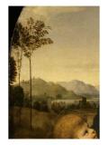 """La Vierge à l'Enfant avec le petit saint Jean-Baptiste dite """"La Belle Jardinière"""" Giclée-tryk af Raffaello Sanzio"""
