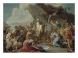 Le Frappement du rocher Giclée-Druck von Joseph Marie Vien