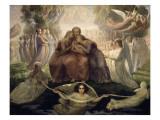Le Poème de l'âme. Génération divine Reproduction procédé giclée par Louis Janmot
