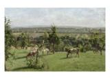 Les côteaux du Vésinet Reproduction procédé giclée par Camille Pissarro