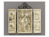 Triptych: the Crucifixion and the Four Evangelists Giclee Print