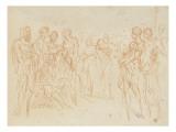 Deux esquisses de composition à plusieurs figures Giclée-Druck von Arnould de Vuez