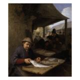 Le Marché aux poissons Giclée-Druck von Adrien Van Ostade