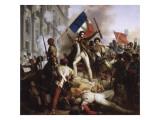 Le combat devant l'Hôtel de Ville, le 28 juillet 1830 Giclee Print by Jean Victor Schnetz