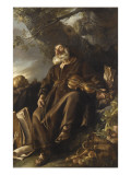 L'Ermite endormi Giclée-Druck von Joseph Marie Vien