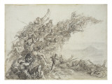 Le cri de Waterloo Giclee Print by Denis Auguste Marie Raffet