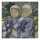 Deux fillettes Giclee Print by Vincent van Gogh