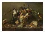Deux singes pillant une corbeille de fruits Giclee Print by Frans Snyders