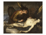 Le bon Samaritain Reproduction procédé giclée par Luca Giordano