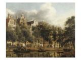 Le Herengracht à Amsterdam Giclée-Druck von Jan Van Der Heyden