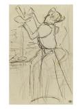 La Modiste : Mlle Le Margonin chez Mme Renée Vert Lámina giclée por Henri de Toulouse-Lautrec