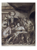 Le satyre chez le paysan Giclee Print by Jacob Jordaens