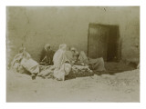 Travel in Algeria: Men Lying in a Street of Sidi Okba Giclee Print by Henri Jacques Edouard Evenepoel