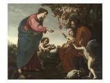 Le Repos pendant la fuite en Egypte Giclée-Druck von Jacopo Vignali