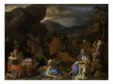Le Frappement du rocher Reproduction procédé giclée par Charles Le Brun