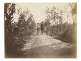 Three Men from Behind, Walking on a Path to Madron Giclee Print by Gustave Eiffel