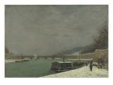 La Seine au pont d'Iéna. Temps de neige Giclee Print by Paul Gauguin
