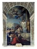 La prédication de saint Denis Giclée-Druck von Joseph Marie Vien