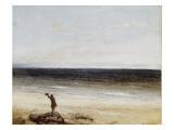 Le bord de mer à Palavas Giclée-tryk af Gustave Courbet