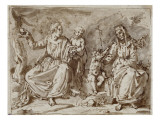 The Virgin with Jesus, St. Anne, St. John the Baptist Giclee Print by Francisco Pacheco