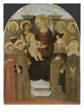 La Vierge et l'Enfant avec huit saints Reproduction procédé giclée par de l'Epiphanie de Fiesole Maître