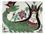 La reine des serpents Shahmaran Giclée-tryk