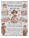 The Famous Cyclone Cowboy and Miss Ella Young Cody. Giclee Print