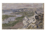 La Seine, vue des hauteurs de Chantemesle Giclee Print by Claude Monet