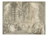 Les  plaisirs du bal Giclée-tryk af Jean Antoine Watteau