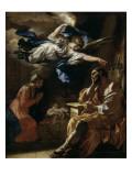 Le songe de Saint Joseph Giclée-tryk af Francesco Solimena