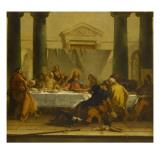 La última cena Lámina giclée por Giovanni Battista Tiepolo