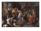 Le départ de Rebecca Giclée-tryk af Francesco Solimena