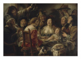 The King Drinks or Draw from the Bean of the Epiphany Giclee Print by Jacob Jordaens